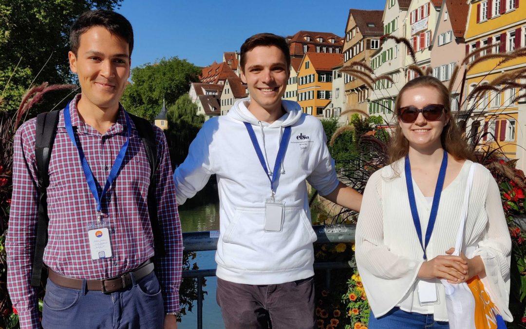 Vorstandsmitglieder von ELSA Münster in Tübingen beim Reftreff